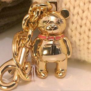 Coach bear charm